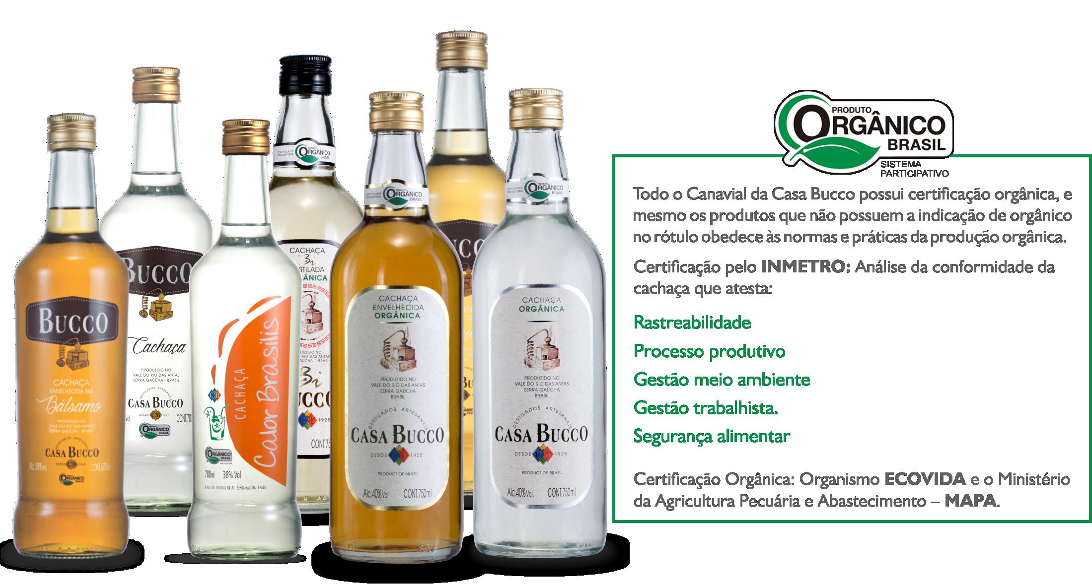 Produtos Orgânicos   Casa Bucco - Destilados Artesanais