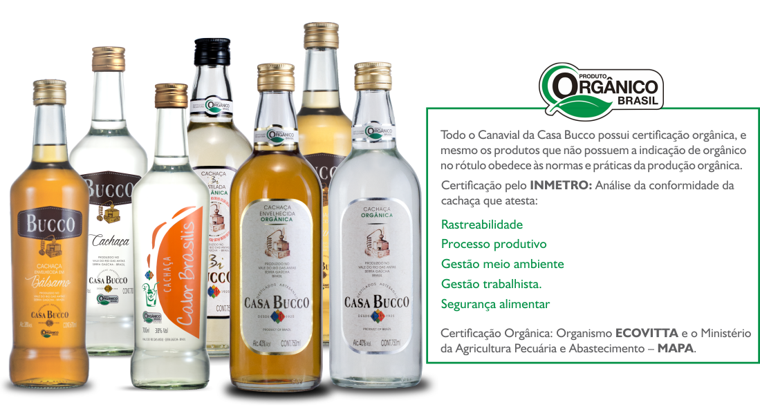 Produtos Orgânicos | Casa Bucco - Destilados Artesanais